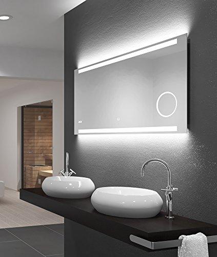 LED-Spiegel Talos King– Warmweiß beleuchteter Spiegel für das Badezimmer - 120 x 60 cm großer...