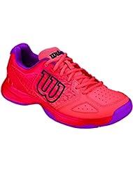 Wilson Kaos Comp Jr Radiant.r/Coral Punc/P, Zapatillas de Tenis Unisex Niños