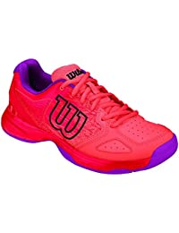 Wilson Kaos Comp Jr Radiant.R/Coral Punc/Pk, Chaussures de Tennis Mixte Enfant