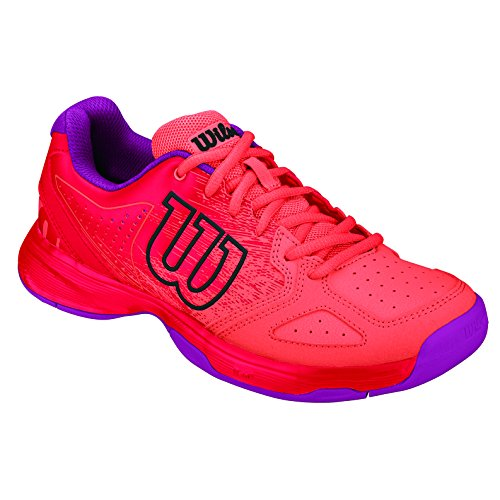 Wilson KAOS COMP JR RADIANT.R/CORAL PUNC/PK,   Tennisschuhe, Rot (Radiant Red/Black/Radiant Red), 36.5 EU (3.5 UK)