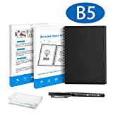 iSuperb Hefte Notizbuch Wiederverwendbar Schwarzes Notizbücher Radierbar Spiral Cloud Storage Notebook Erasable Storage mit Erasable Stift (Notizbuch B5)