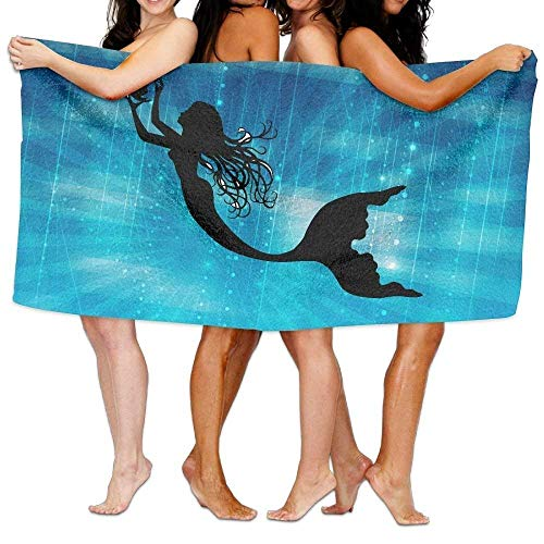 xcvgcxcvasda Badetuch, Soft, Quick Dry, Beach Towel Mermaid 80