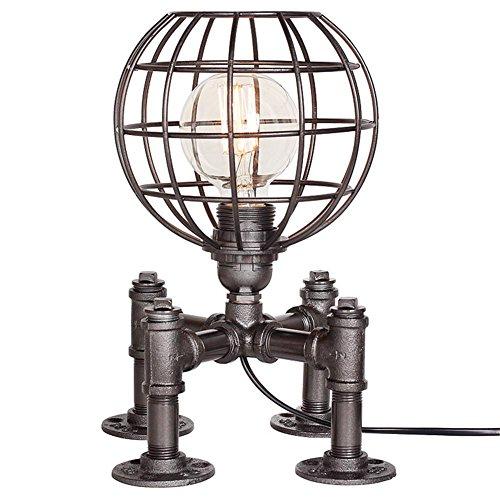 1-licht-acryl-diffusor (HHORD Kreative dekorative Lichter Retro Persönlichkeit Eisen Lampenschirm Hohle Tischlampe mit Einstellschalter , 1)