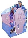 PalPlay S680-018 Disney Princesses Indoor & Outdoor Plastik Spielhaus, Transparenter Frostoptik mit Glitzereffekten