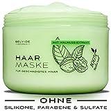 BELVIDE® Natur Haarmaske mit Walnussextrakt, Brennessel, Klette, und Jojobaöl - Haarkur für geschädigtes Haar · ohne Silikon · tierversuchsfrei · 250ml