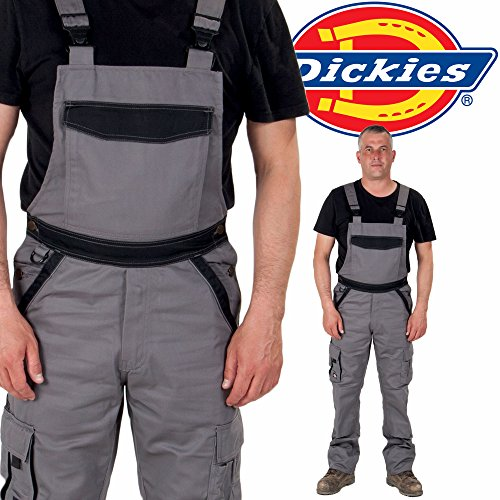Black Mens Work Overalls Dungarees Dickies Bib and Brace Dungarees Grey