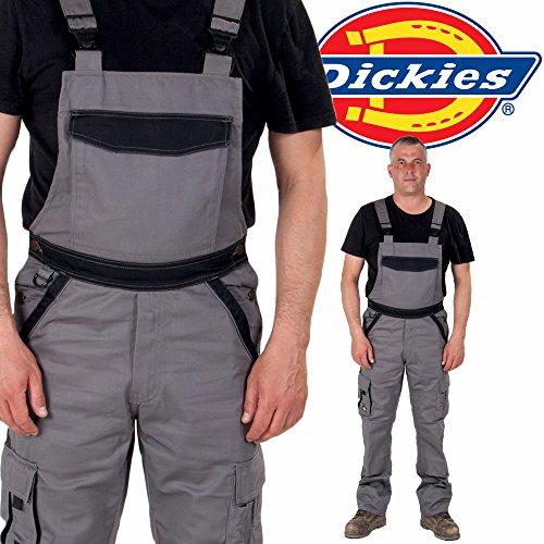 Dickies Latzhose - Grau / Schwarz Arbeit Latzhose jeans- latzhosen männer (Jeans Denim Arbeit)