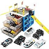 PHYNEDI Spielzeug Garage Parkhaus, Großes Parkhaus Spiel Parkgarage mit Einem Lift inklusive Auto für Kinder ab 3 Jahr