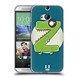 Head Case Designs Rasierer Z Alphabet Monster Soft Gel Hülle für HTC One M8 / M8 Dual SIM