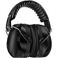 Homitt Orejeras de Protección 34dB SNR Protector Auditivos Orejeras con Bolsa de almacenamiento Tecnología de cancelación de ruido para tiro, caza, trabajo o construcción - Negro