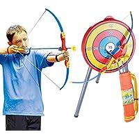 Mecotech Arcos y Flechas para Niños Juego de Disparos de Juguete