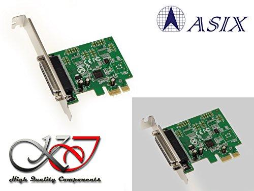 Kalea-Karte CONTROLEUR PCI Express (PCIe) Parallel IEEE1284LPT-Chipsatz ASIX-SPP/ECP-equerres Low und High Profile-Windows XP, Vista, Seven, 8.x, 10, Linux, Android - Pcie-amp