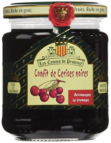 Les Comtes de Provence Confit de Cerises Noires 250 g - Lot de 3