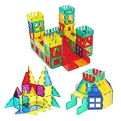 Bloques de construcción magnéticos 3D 82 Piezas, Azulejos de construcción con folleto de guía y Caja de Almacenamiento, Juguetes de construcción de Juguetes para niños Mayores de 3 años de Baobë