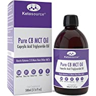 Premium C8 MCT Oil | Boosts Ketones 3X More Than Other MCTs | Highest Purity C8 MCT Available 99.8% | Paleo & Vegan Friendly | Gluten Free | BPA-Free Plastic Bottle | Pure Caprylic Acid | Ketosource®