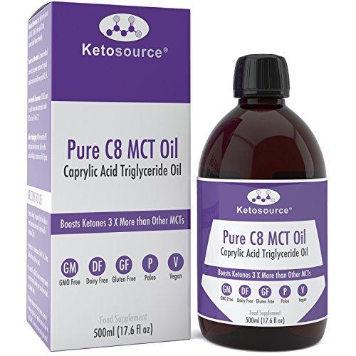 C8 MCT Aceite Puro | Produce 3 X Más Cetonas