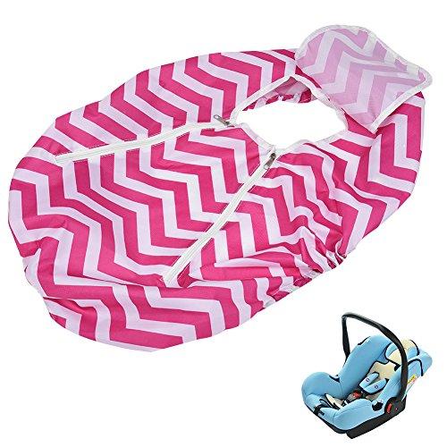 Preisvergleich Produktbild CARGOOL Baby Infant Car Ampelschirm Rian Cover und Sleep Aid für Baby-Autositz leicht und tragbar Lovely Streifen Mustern