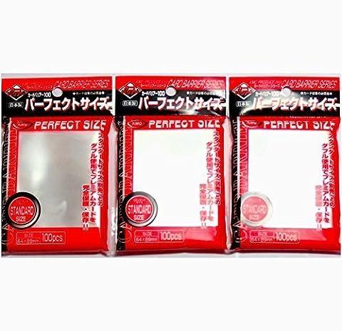 Pochettes de protection de cartes à jouer/collection KMC Perfect Size Pack de 3 (3 paquets/total 300 pochettes) Import Japon - Fabriqué au Japon
