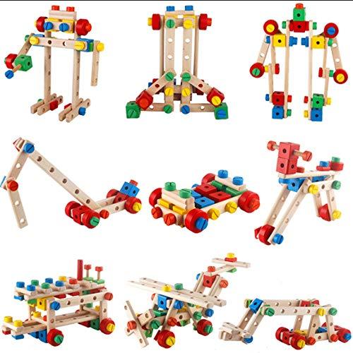 Mopoq 3 Jahre alt + Kinder Nussgruppe Demontage Junge Hands-on Puzzle Klasse Geburtstagsgeschenk Sorte Nuss Kombination -
