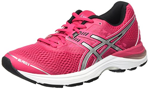Asics Gel-Pulse 9, Scarpe Running Donna, Rosa (Cosmo Pink / Silver / Black), 39.5 EU
