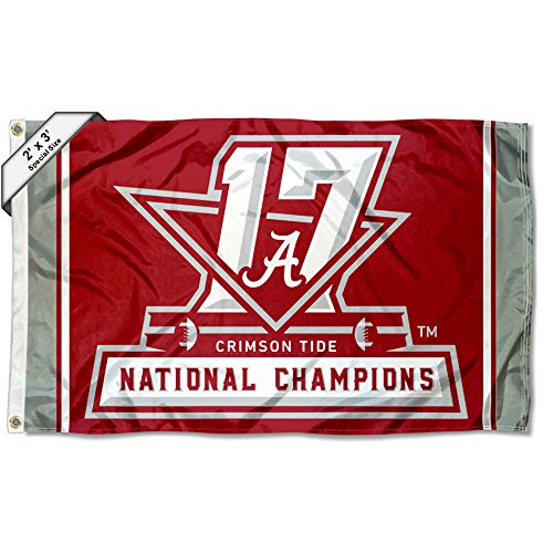 College Flags and Banners Co. Alabama Crimson Tide 2017National Football Champions 2x 3Fuß Flagge