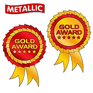 Metallic Gold Award Rosette School Reward Stickers x 75 - Primary Teaching Services (3rd)