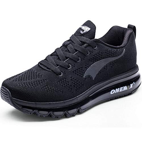 ONEMIX Uomo Scarpe da Ginnastica Corsa Sportive Sneakers Air Running Fitness Respirabile Mesh Casual all'Aperto Nero 42 EU