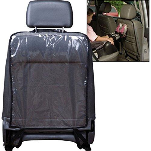 Gogogo Anti-schmutzig Auto Träger Auto-Sitz Rückseiten-Schutz-Abdeckung Transparent Abnehmbare Hängen Auflage (Schwarz)