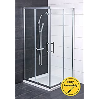 Aquariss 900 x 900mm Corner Entry Shower Enclosure - FREE Shower Tray & Waste