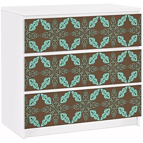 apalis 91695Muebles Protector de pantalla para cómoda de Ikea Malm marroquí Ornament, tamaño 3veces, 20x 80cm