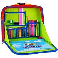Creative Kids Niños creativos Super divertido mostrador – asiento portátil bandeja organizador con dibujo para colorear juego