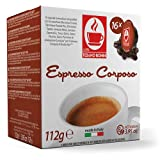 "Lavazza A Modo Mio ® CORPOSO Kaffee | 30% Arabica - 70% Robusta | TIZIANO BONINI (16 Kapseln kompatible) alternative Kaffeekapsel Caffè Bonini Italien ""leckerer Kreme"" Espresso Caffè dunkle Röstung."