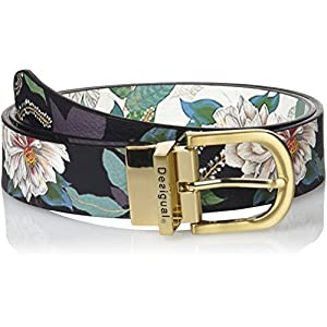 Desigual Cint_reversible Belt Troy Cinturón para Mujer
