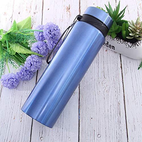 WENSISTAR mit Becher und Drehverschluss,Outdoor-Sportflasche, tragbarer Becher mit großem Fassungsvermögen @ Blue_600ml,12 Stunden heiß Isolierbecher