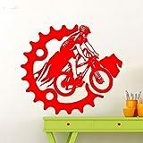 yaoxingfu Mountainbike Wandaufkleber Fahrrad Hinweis Vinyl Aufkleber Home Garage Raumdekoration Radfahren Sport Radfahrer Wandbild ww-2 47x42 cm