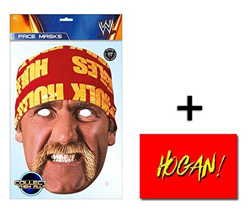 Hulk Hogan WWE Official WWE Single Karte Partei Gesichtsmasken (Maske) Enthält 6X4 (15X10Cm) (Hulk Hollywood Kostüm Hogan)