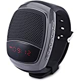 Generic B90 Outdoor Sports MP3 Music Player Digital Watch Portable Wireless Bluetooth 3.0 + EDR Mini Speaker + Remote Control Selfie-timer + Phone Anti-lost + In-Built Mic + Handsfree + FM Radio + Micro SD Card Support - Random Colour