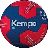 Kempa Leo balón de Entrenamiento Balonmano, Azul océano/Rojo lighthou, 1