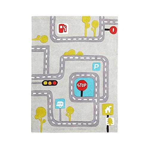 YC electronics Rechteckiger Teppich der Haushalts-Handgemachten Kinder, reizende Art- und Weisepers5onlichkeit, Kaffee-Tabellen-Wohnzimmer-Studien-Schlafzimmer-Grün-Matten, 120 * 160cm (Color : B) - Gold-rechteckiger Teppich