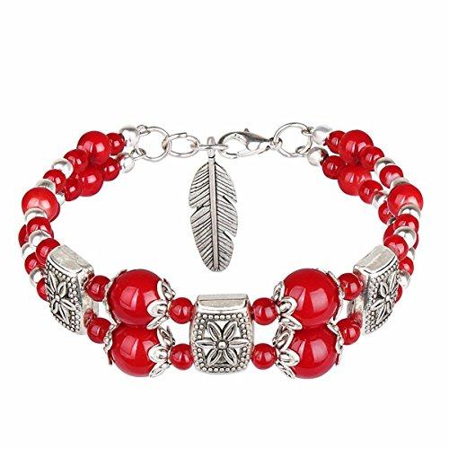 KUNQ National Style Retro Bohemia Armband Sweet Girl Fresh Literatur und Kunst Armband, B