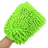 Hugo Car Styling Gloves Microfiber Washer Towel Duster For Cleaning Car Microfibre Chenile Duster With Gloves & Grip. 2 in 1. Car Accessories. Useful for cleaning Car, Glass, Motorcycle, Bike, Mirror, Tile Etc.