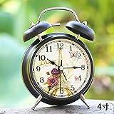 Valaws Vibrationsalarm, Wecker, Student, Schlafsaal, Aufwachen, Vibration, Super Laut, Fauler Wecker @ 4 Zoll Black Shell Tower Flower