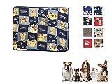 Ducomi® Tobia - Colchoneta y Cuna para Perros y Gatos con Forro Impermeable - Cojín Repelente al Agua para Perros, Gatos y Mascotas (57 x 73 cm, Random Colors)