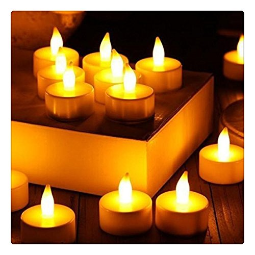 Kangrunmy LED Bougie électrique,12 Bougies Cire Lot LED sans Flamme, Anniversaire, Mariage Blanc Luminaire d'ambianc