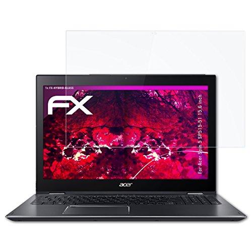 atFolix Glasfolie kompatibel mit Acer Spin 5 SP515-51 15,6 inch Panzerfolie, 9H Hybrid-Glass FX Schutzpanzer Folie
