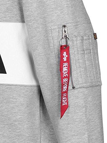 Alpha Industries Crewneck Sweater NASA Inlay rep. blue Grau Meliert