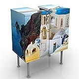Apalis Design Vanity Santorini 60x 55x 35cm, Piccolo, Largo 60cm, Regolabile, lavandino, lavabo, Rubinetto per lavabo da Bagno, Armadio, unità di Base, Bagno, Narrow, Flat