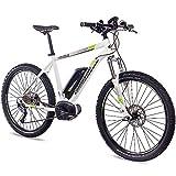 CHRISSON 27,5 Zoll E-Bike Mountainbike Pedelec Elektrofahrrad E-Mounter 1.0 Bosch PLINE & ACERA 3000 Weiss 48cm