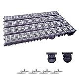 4m Entwässerungsrinne mit Dichtung Belastungsklasse A15. Stegrost Kunststoff Grau-Line. Tiefe: 100mm