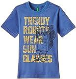 United Colors of Benetton Baby Boys' T-Shirt (15P3096C11DPG21H1Y_Light Slate Blue_1Y)